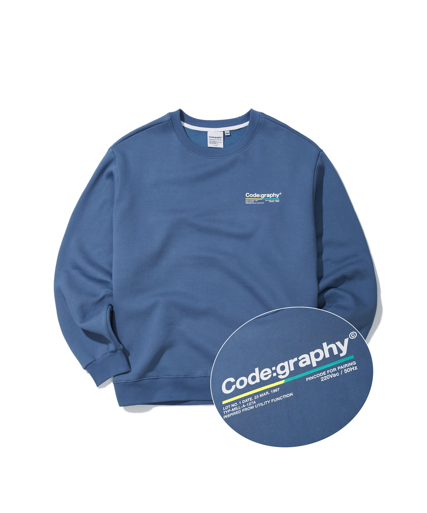 COLOR CHIP LOGO CREWNECK - BL