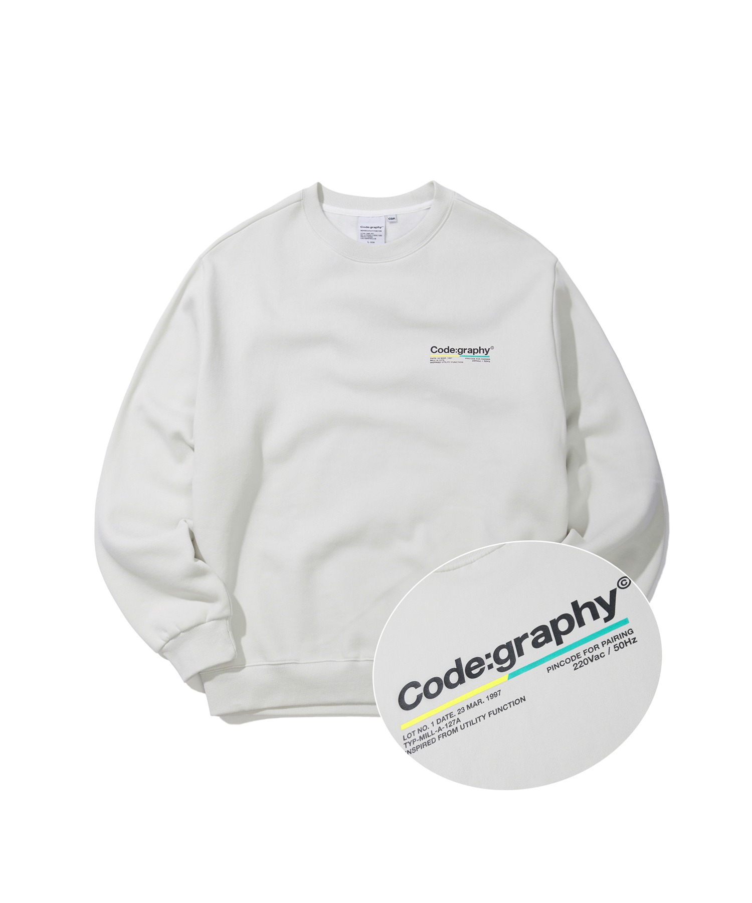 COLOR CHIP LOGO CREWNECK - LGR