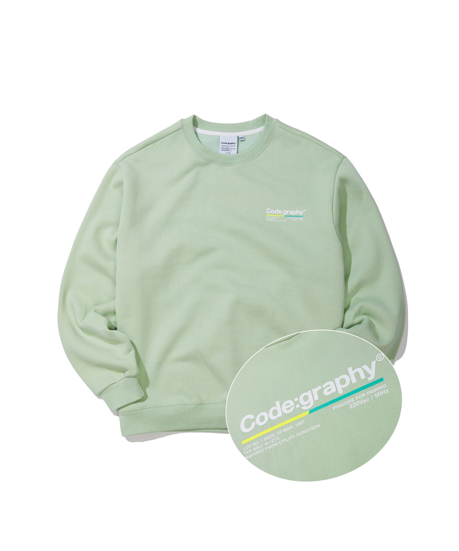 COLOR CHIP LOGO CREWNECK - MN