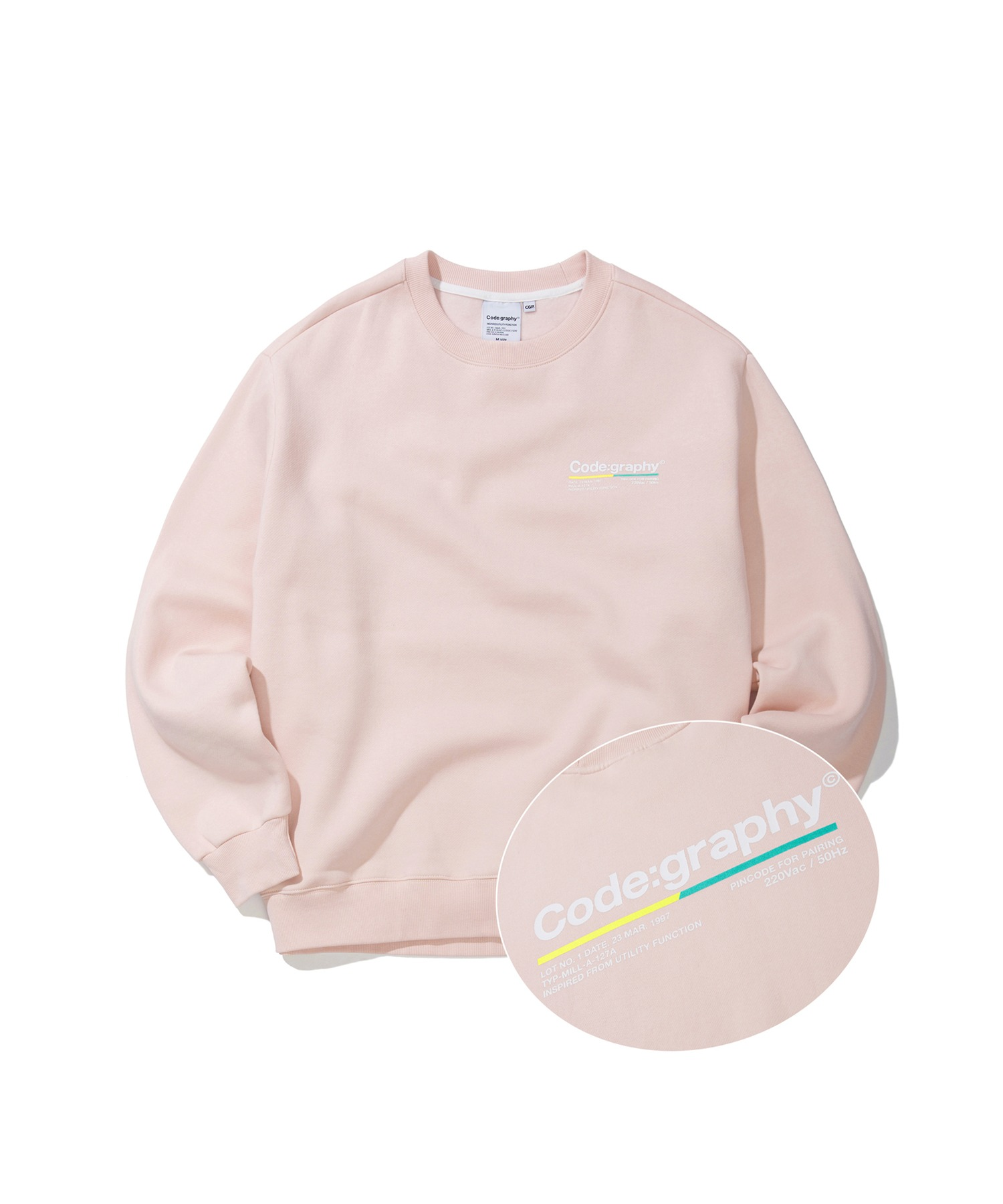 COLOR CHIP LOGO CREWNECK - PK