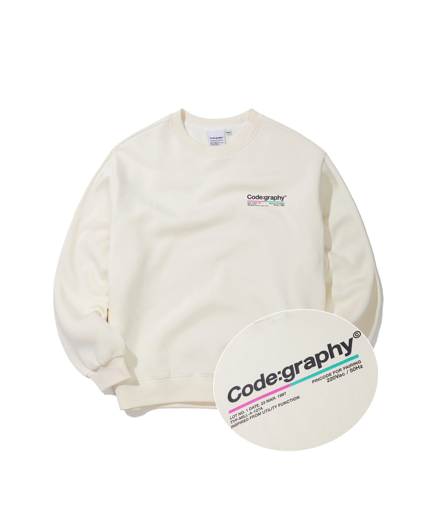 COLOR CHIP LOGO CREWNECK - CR